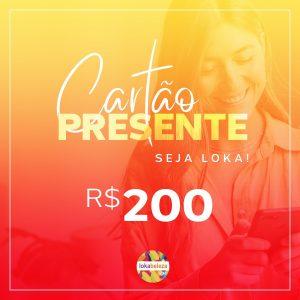 Cartão Presente R$ 200 - Lokabeleza Spa