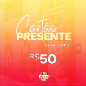 Cartão Presente R$ 50 - Lokabeleza Spa
